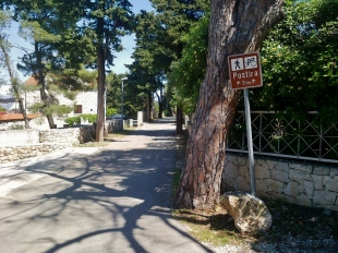 This is where you take the cycling path from Splitska to Postira