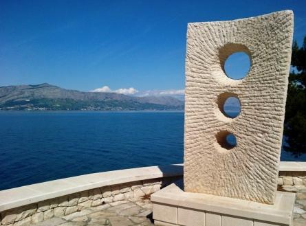 A sculpture in Postira