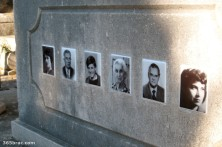 Portraits on a tombstone